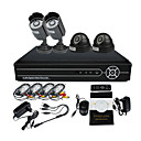 2 exteriores e 2 interior Day Night CCTV Home Video Surveillance Camera Kit de Segurança (4CH D1, IR 10m)