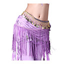 Dancewear Tulle with Coins and Tassels Performance Belly Dance Belt For Ladies More Colors