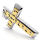 Men's Gold Titanium Cross Pendant(Free Chain)(7*4.1*.5CM)