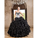 Ball Gown Sweetheart Floor-length Taffeta Organza Dress With Ruffles