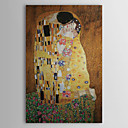 Kiss by Gustav Klimt Museum Quality with Gold Foil