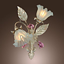 Country Style Wall Light with 2 Lights Floral Design