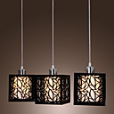 Pendant Light with 3 Lights in Cubic Shade