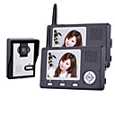 Wireless Night Vision Camera with 3.5 Inch Door Phone Monitor (1camera 2 monitors)