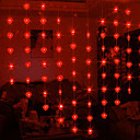 1.2Mx0.95M Rood Hart LED String lamp met 32 ​​LED's - Kerst & Halloween decoratie