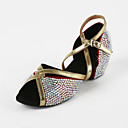 Women's Leatherette / Rhinestone Upper Arch Strap Latin  / Salsa Dance Shoes
