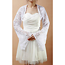 Elegant Long Bell Sleeve Lace Wedding/Evening Jacket/Wrap (More Colors)