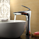 Sprinkle® by Lightinthebox - Contemporary Chrome Finish Bathroom Sink Faucet (Tall)