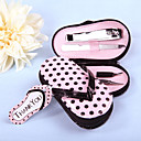4 Piece Pedicure Kit With Pink Polka Dot Flip Flop Case Favor
