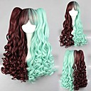 Lolita Wig Inspired by Cute Sweety Brown and Green Mixed Color Punk