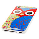 Cartoon Owl Pattern Hard Case for iPhone 4 and 4S
