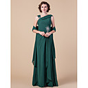 Sheath/Column Straps Floor-length Chiffon Mother of the Bride Dress With A Wrap