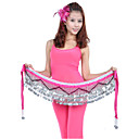 Dancewear Polyester With 258 Silver Coins Belly Dance Hip Scarf for Ladies More Colors