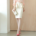 ALAN Solid Color Peplum Pencil Skirt (More Colors, Slim Fit)