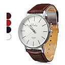 Unisex's PU Analog Quartz Wrist Watch (Assorted Colors)