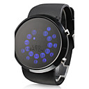 Rall Ball Pattern Blue LED Wrist Watch