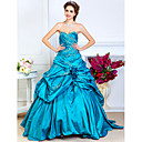Ball Gown Sweetheart Floor-length Taffeta Evening Dress