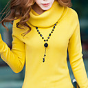 Women's Long Sleeve Loose High Neck Long Sweater