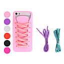 Shoe Design Soft Case with Shoelace for iPhone 5 (Assorted Colors)