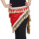 Dancewear Velvet With Sequins/Tassels Performance Belly Dance Hip Scarf For Ladies More Colors