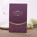 Personalized Purple Floral Wedding Invitation (Set of 50)