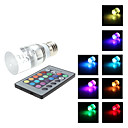 E27 3W RGB Light Remote Controlled LED Crystal Candle Bulb (85-265V)