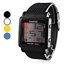 Men's Rubber LED Digital Wrist Watch (Assorted Colors)