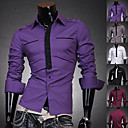 Men's Fashion Fake Collar effen kleur shirt