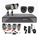 2 Außen-und 2 Indoor Tag Nacht CCTV Home Video Surveillance Security Camera Kit