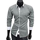 Men's Cheap Leisure Long Sleeve Organic Cotton Shirt(Assorted Colors And Sizes)