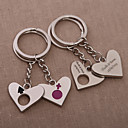Personalized Heart Key Ring  Only You Can Fill My Heart (Set of 4 Pairs)