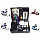 4 Machine Guns Tattoo Kit avec Power LCD et Carry Case