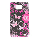 Flores y Mariposas Funda para Samsung I9100 Galaxy S2