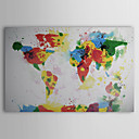 Hand geschilderd olieverfschilderij Abstract World Map 1211-AB0121