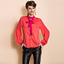 TS Bow Tie Puff Sleeve Blouse Shirt