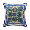 Floral Pattern Cotton Decorative Pillow Cover