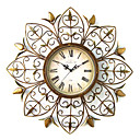 "24"" Sun Floral Metal Wall Clock"