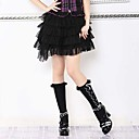 Corto Tiered Pure Cotton Color de Gothic Lolita Falda (66-80cm)