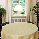 Contemporary Jacquard Geometric Round Polyester Table Cloth