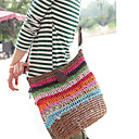 Women's Lovely Rainbow Woven Crossbody Bag