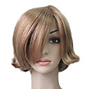 Capless 100% Human Hair Golden Blonde Short Curly Hair Wig