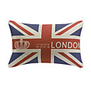 London Style Cotton/Linen Decorative Pillow Cover