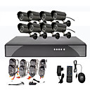 8CH Kit DVR CCTV Scurit pour la maison (8 camra extrieure impermable  l'eau)
