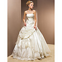 Ball Gown Strapless Organza Floor-length Wedding Dress