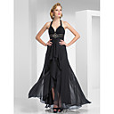 A-line Haulter Floor-length Chiffon Evening Dress