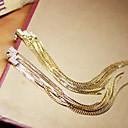 Lightning stereo Crystal studded with long gold tassels exaggerated foreign trade original single earrings vintage Europe and S9
