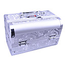 Aluminium Alloy Double-deck Lockable Professional 24*15.5*15.5cm Cosmetic Box