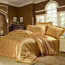 Herman Jacquard Full / Queen 4-Piece Duvet Cover Set