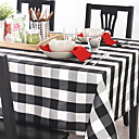 Plaid Style Linen Table Cloth