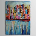 Hand Painted Oil Painting Abstract Building 1303-AB0336